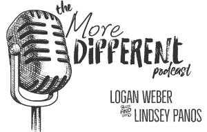 Logo for The More Different Podcast